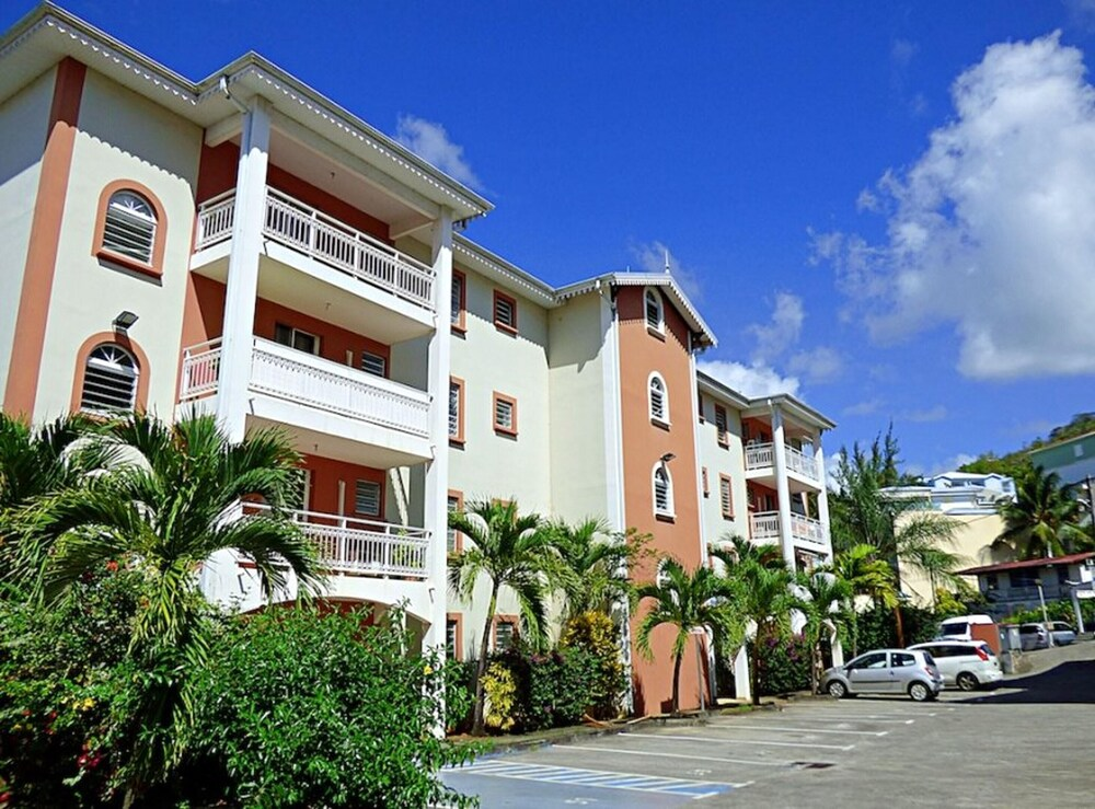 Studio in Les Trois îlets With Wonderful City View Balcony and Wifi 80 m From the Beach