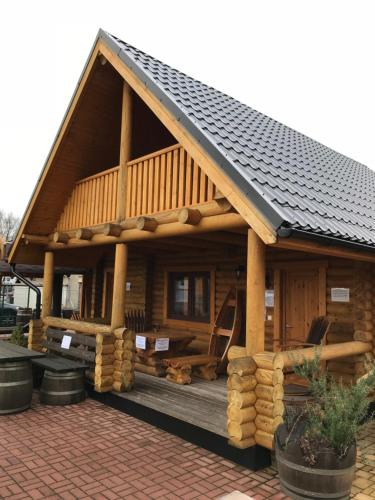 Wellness Hütte am Zwenkauer See bei Leipzig