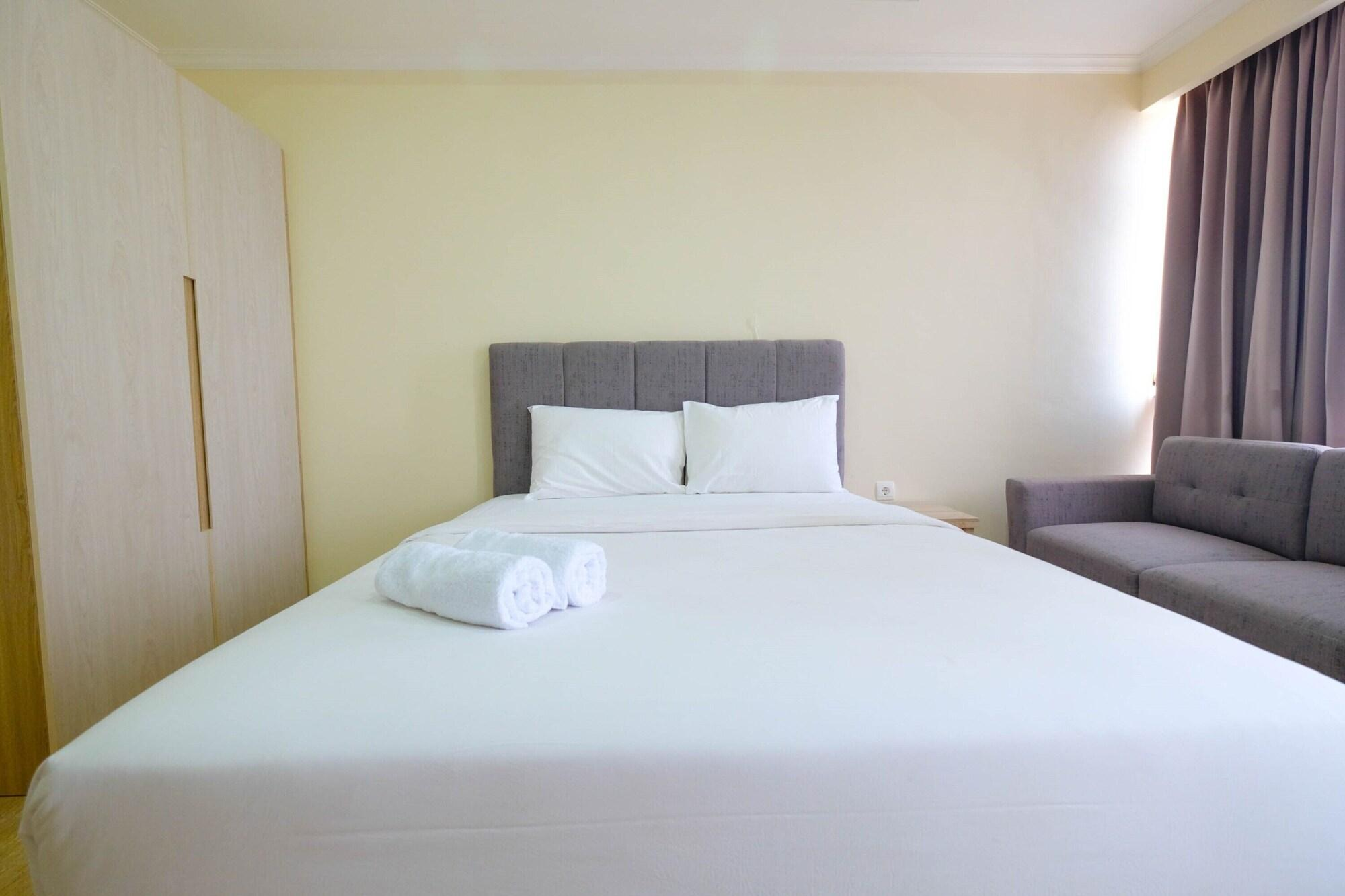 Comfy Studio Room with City View at Menteng Park Apartment