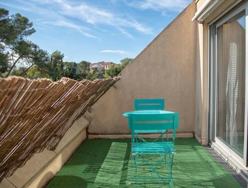 Studio terrasse Montpellier Parking privé Proche ligne 1