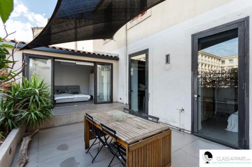 Appartement design avec Terrasse clim AC proche gare et Comédie Class Appart
