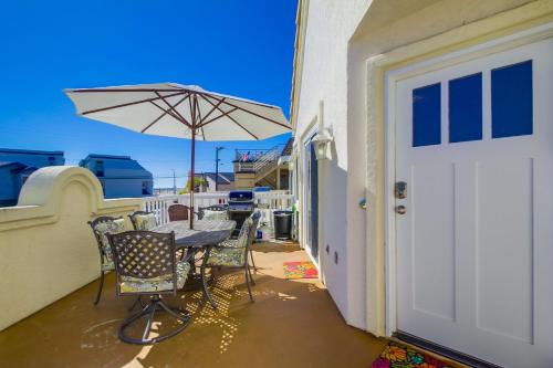 Stroll to the beach from this remodeled family beach home