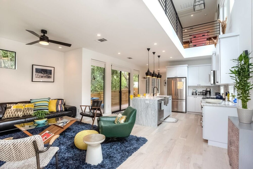 Bright Artistic Central East Austin Home