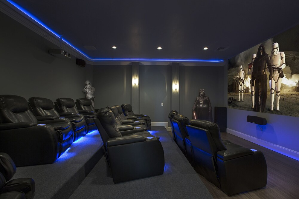 Theater Room Game Room Gym 7 Br home by RedAwning