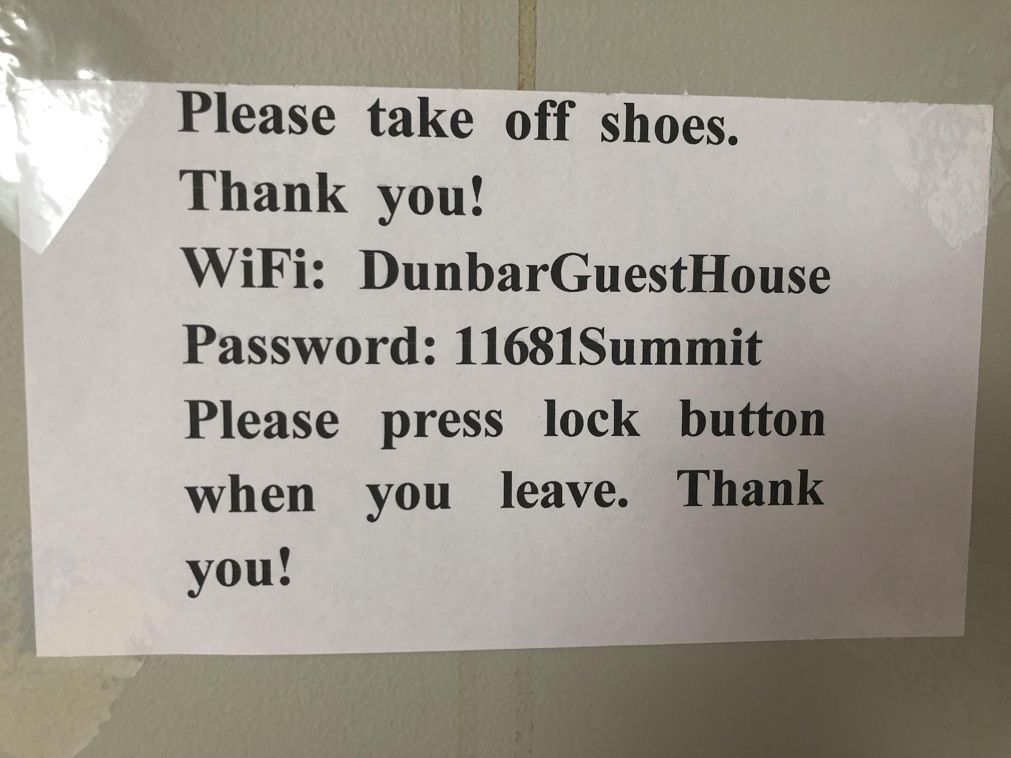 Dunbar Guest House