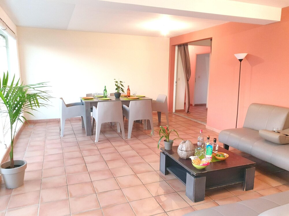 Apartment With 2 Bedrooms in Les Trois îlets With Wonderful sea View Furnished Terrace and Wifi 100 m From the Beach