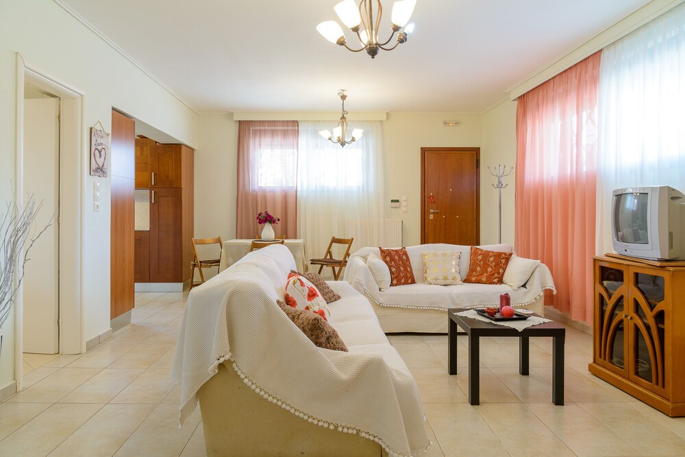 Comfy Vacation flat 300 m. from beach