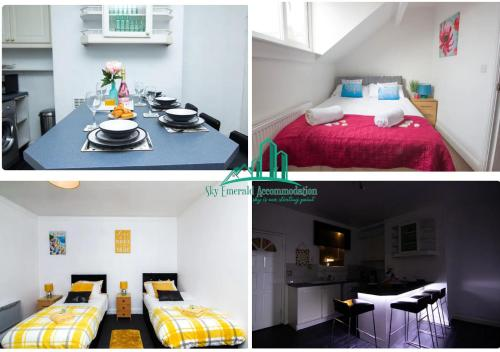 3 & 4 Bedroom House Available with Sky Emerald Serviced Accommodation Leeds Upto 14 Guest With Free Car Park and Free Wifi Offer for Long Term Bookings