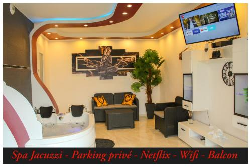 Suite Privatif Spa Jacuzzi Parking Wifi Netflix