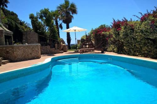 Villa pool on the beach