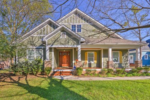 Charlotte Home w Deck in NoDa District Near UNC